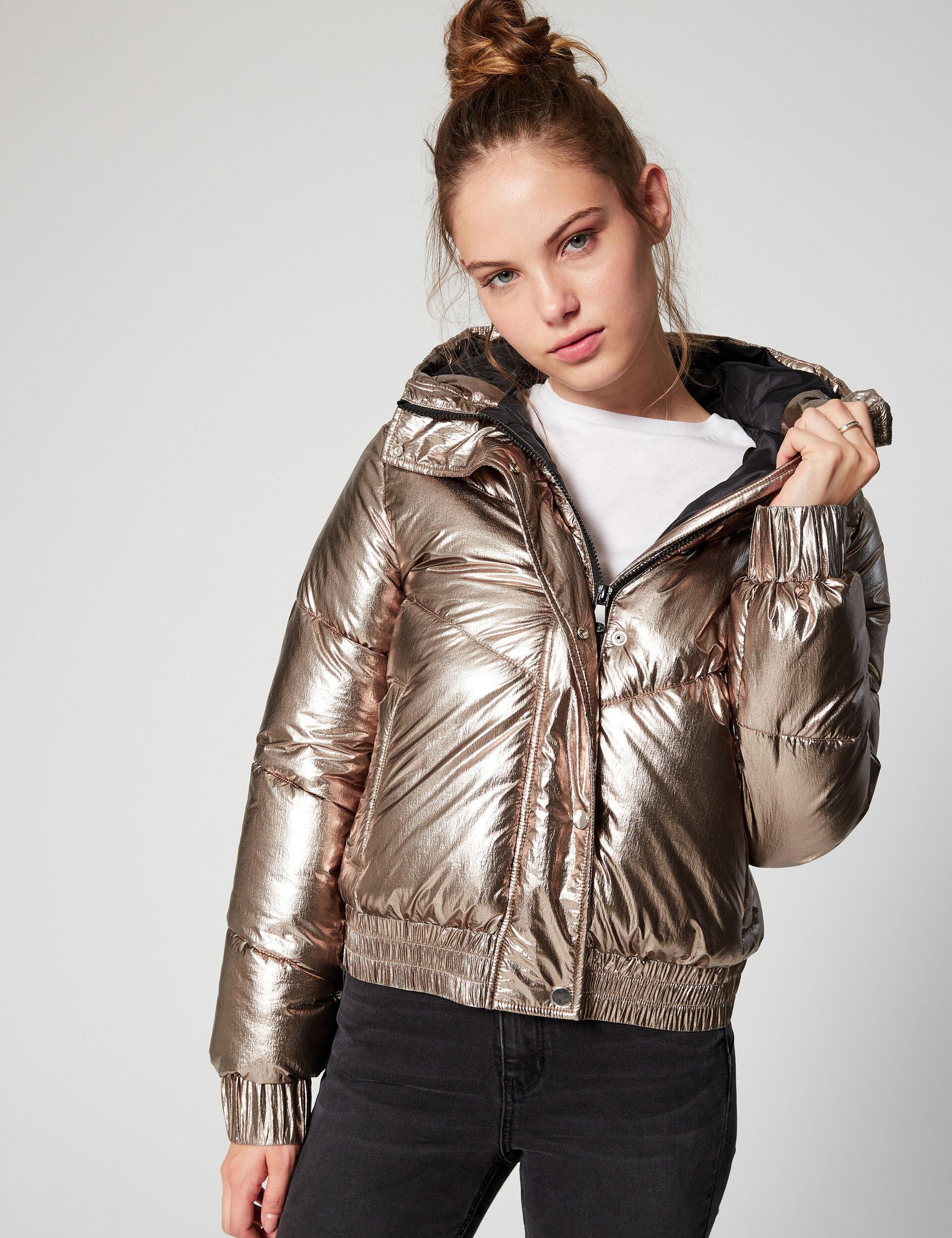 Waxed padded jacket