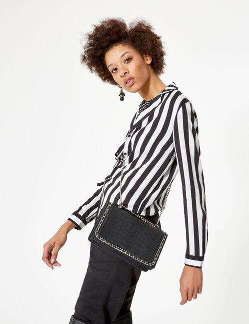 sac avec chaînette noir
