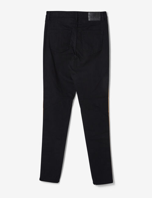 Ochre trousers with striped trim detail