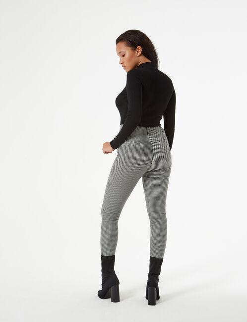pantalon vichy avec boucle