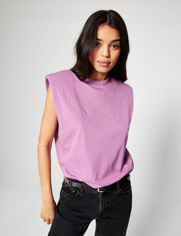 Vest top with shoulder pads
