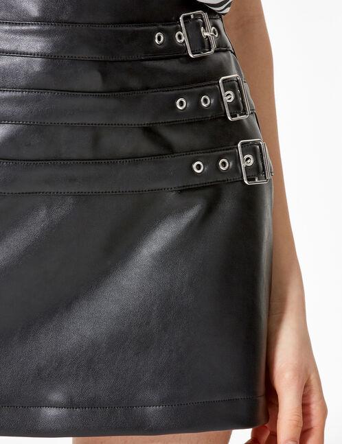 jupe courte simili noire