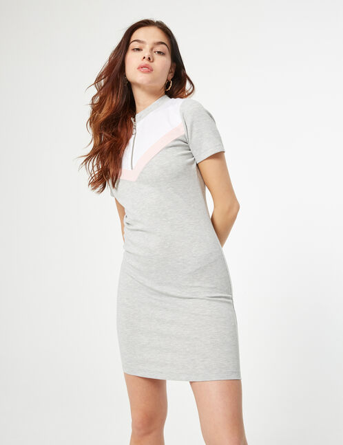 Sweatshirt dress with arrow detail