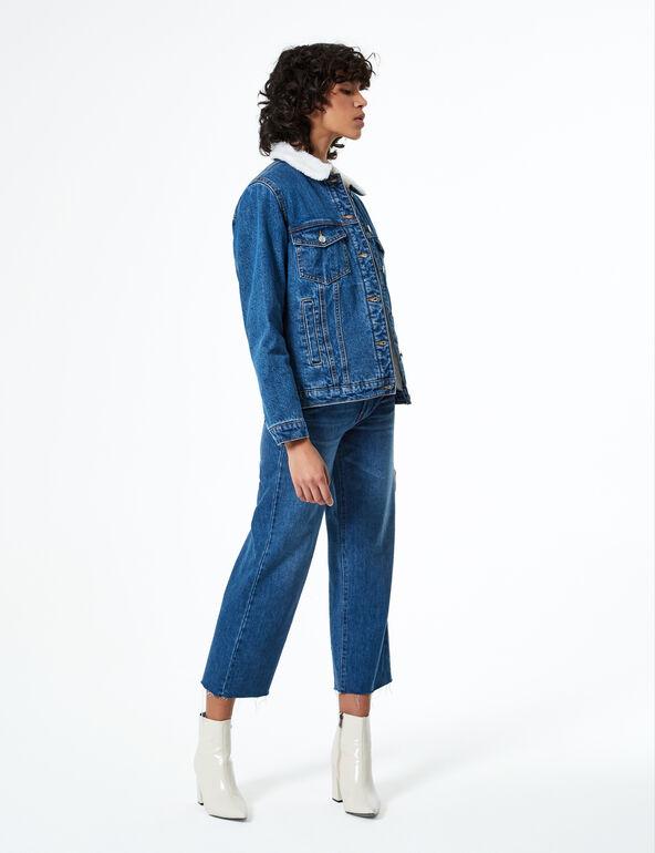 Fleece-lined denim jacket