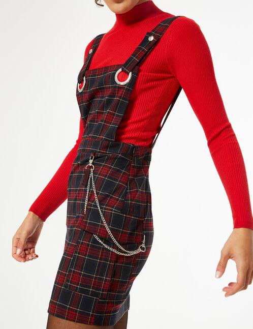 Checked pinafore dress