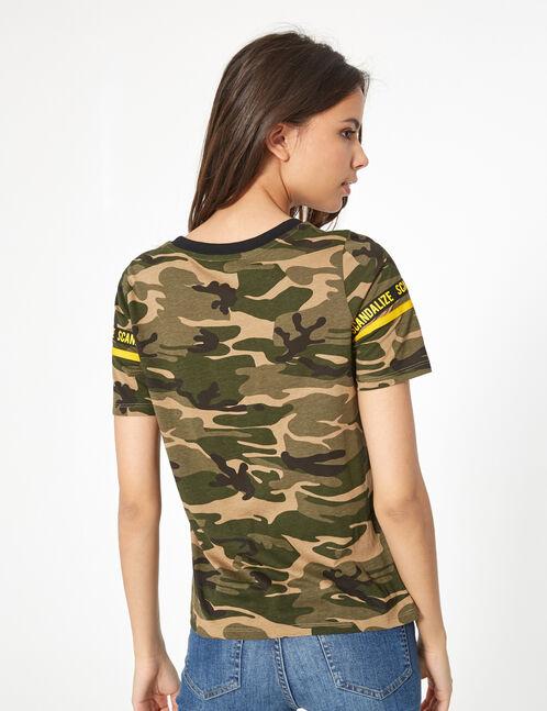 tee-shirt camouflage kaki