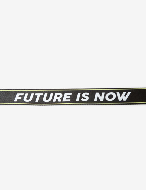 Belt with 'future is now' logo