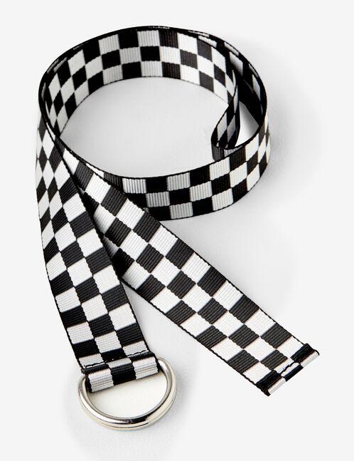 chequered belt