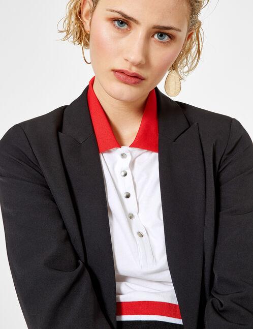 Black blazer with button detail