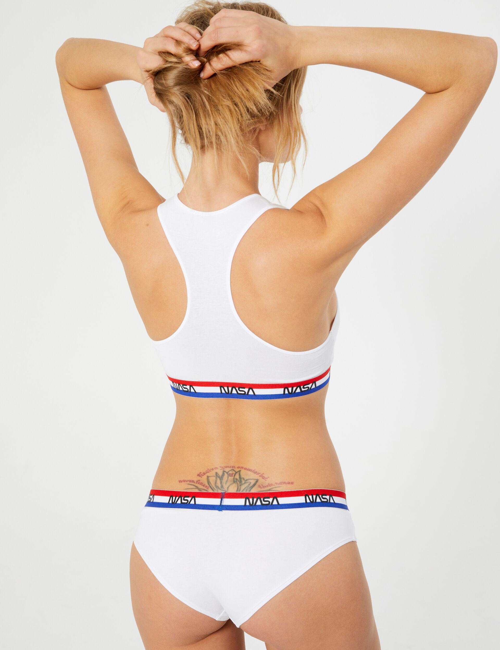 NASA three-tone bra top