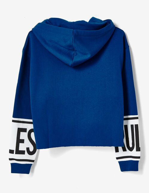 """Blue """"my rules"""" hoodie"""