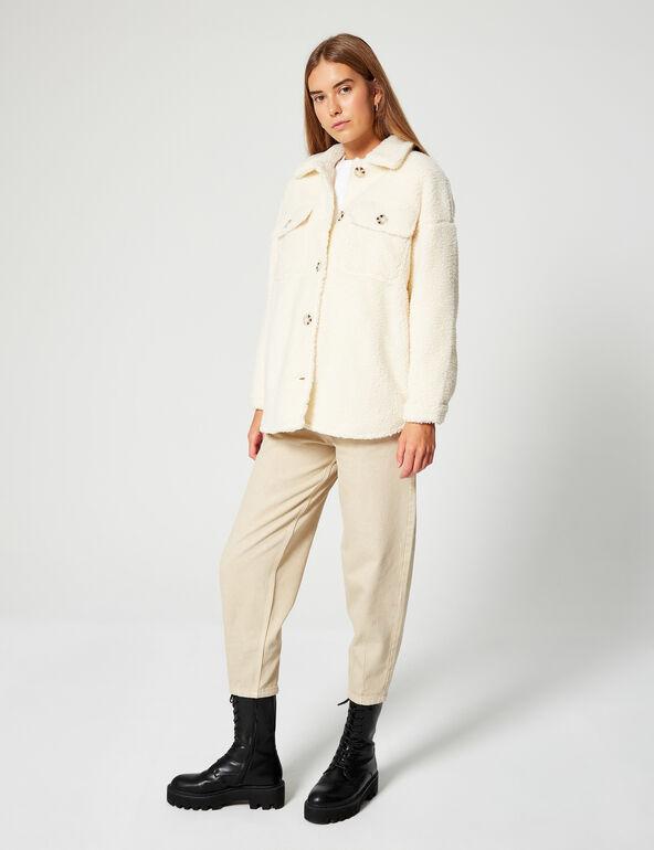 Imitation sheepskin jacket
