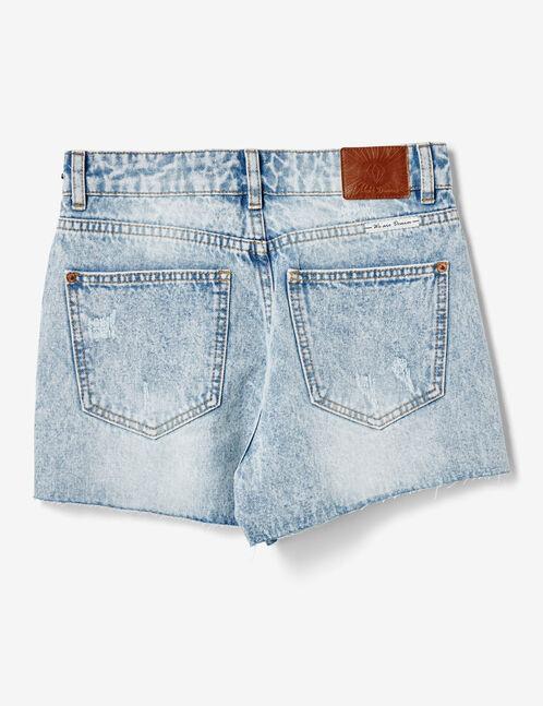 short en jean we are denim bleach