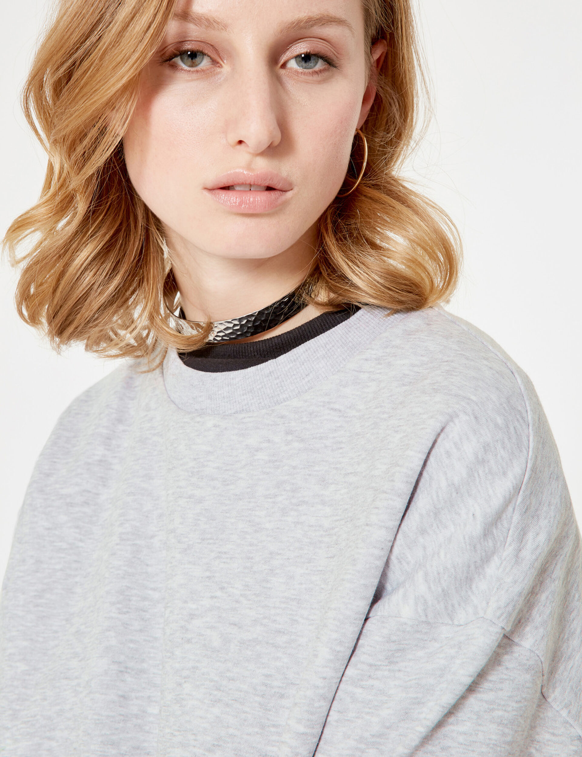 Basic grey marl sweatshirt