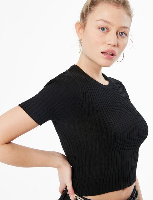 Pullover in maglia a costine