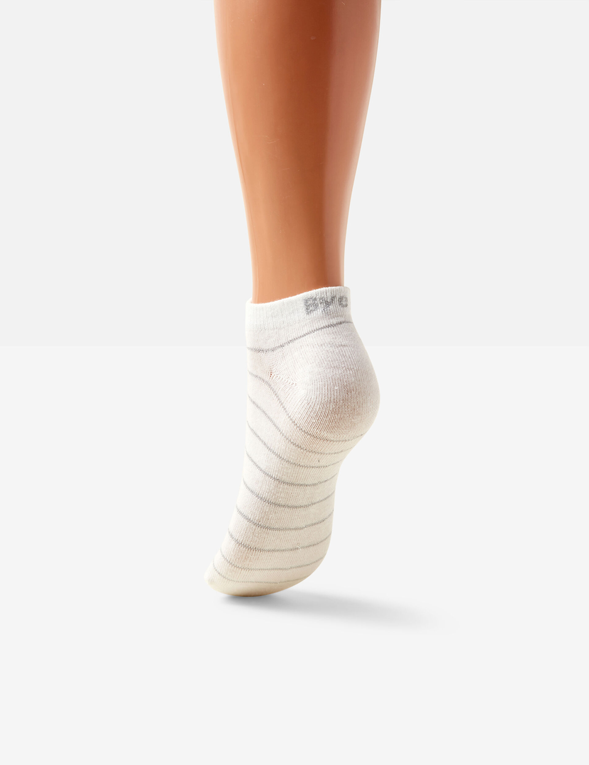 White, grey and charcoal lurex socks