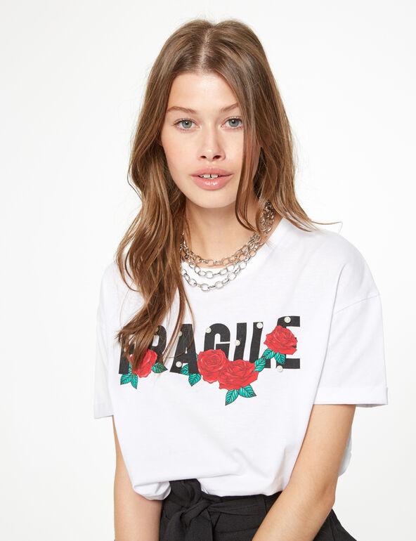 Tee-shirt avec perles