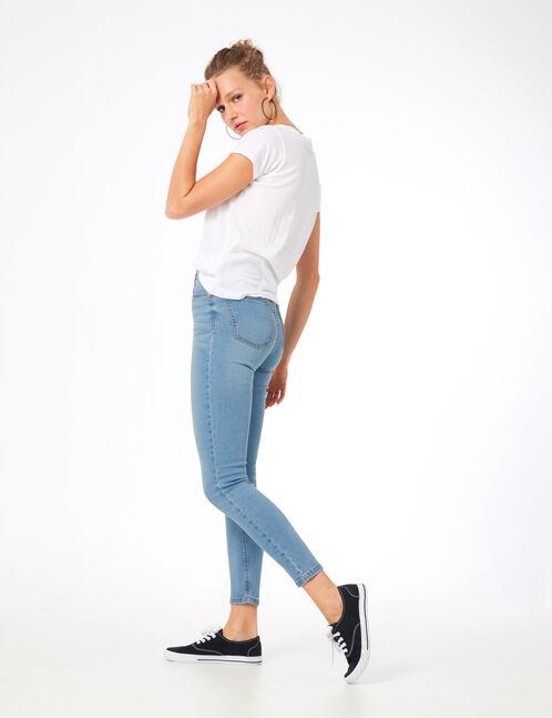 Sky blue high-waisted super skinny jeans
