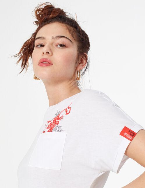 tee-shirt imprimé dragon
