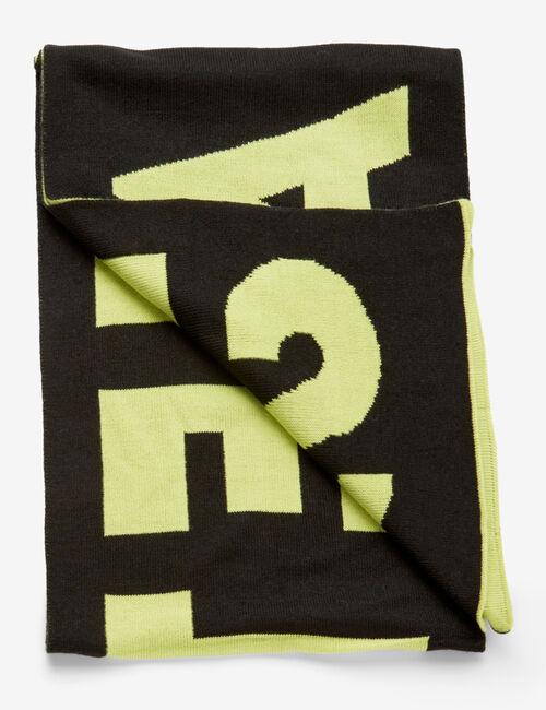 Écharpe bicolore à message
