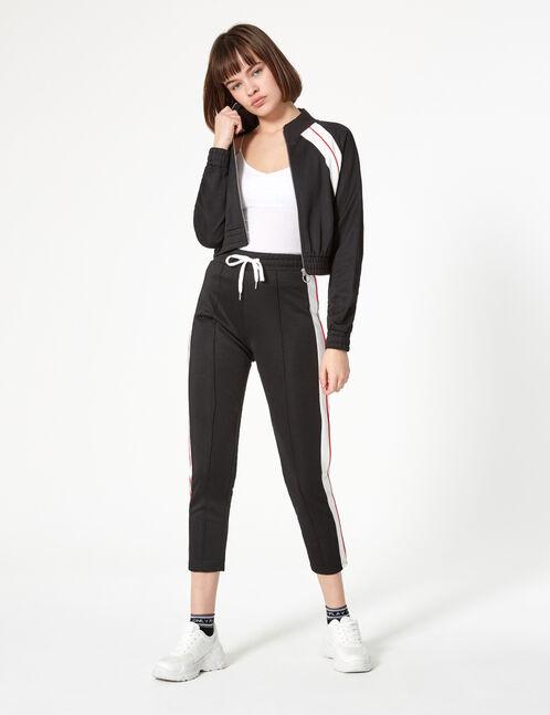 veste de jogging zippé noire