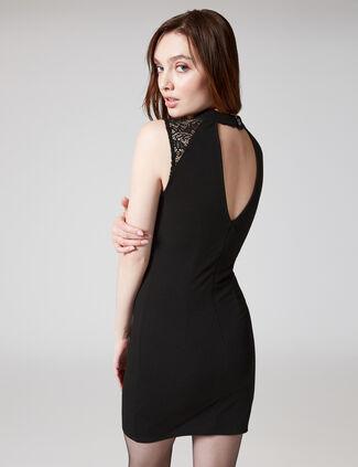 ... Black deep V-neck dress fef81d02c5a1