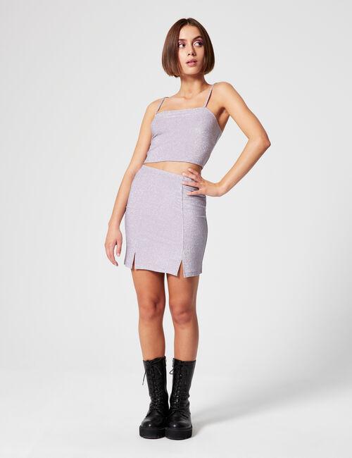 Lurex skirt with slits
