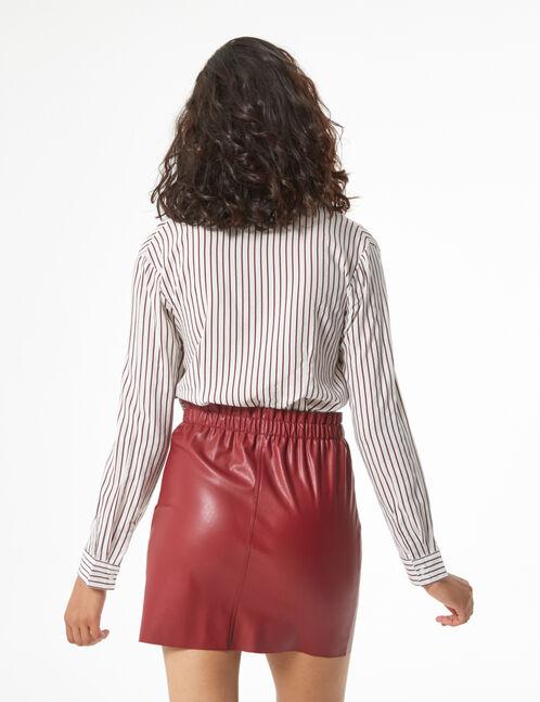 chemise rayée décolleté V