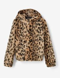 Jennyfer veste léopard zippée beige et noire