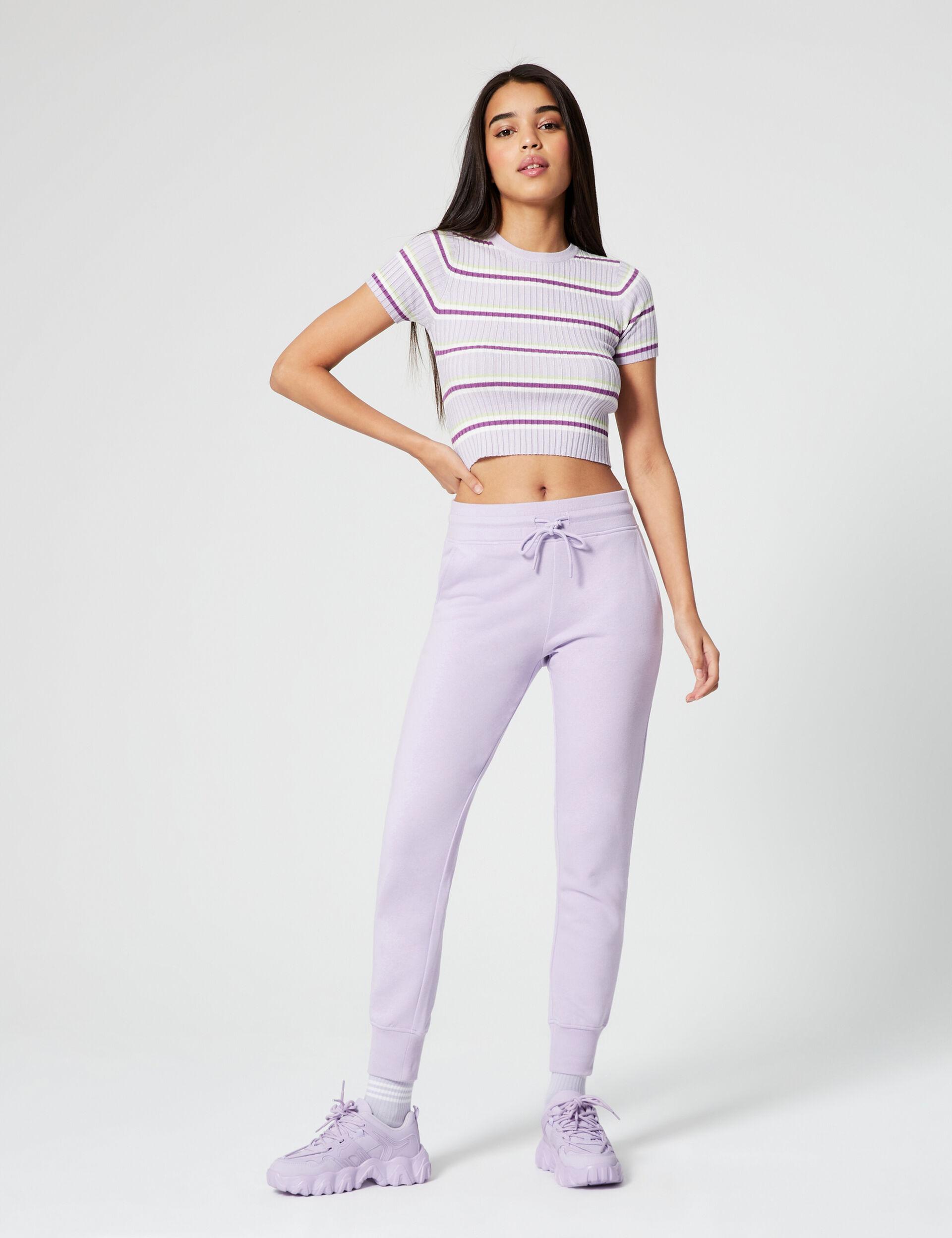 Striped ribbed jumper