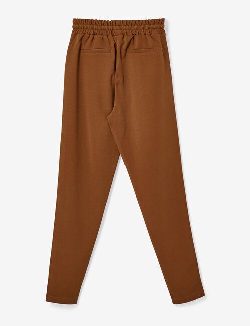 pantalon en crêpe camel