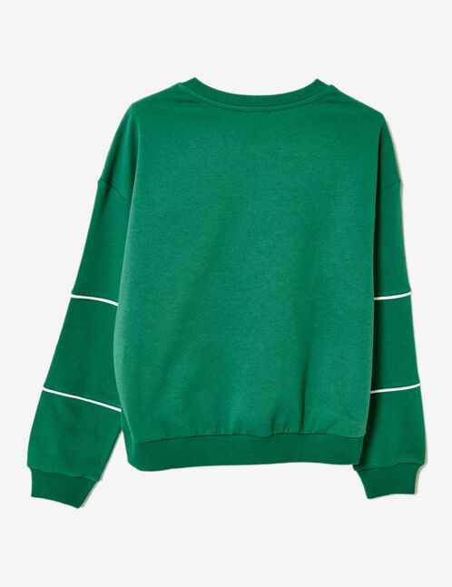 "Green ""feminist"" sweatshirt"
