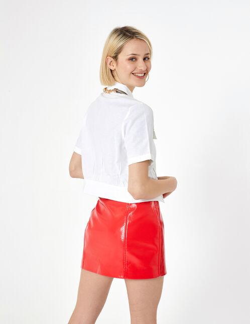 chemisier à poches blanc