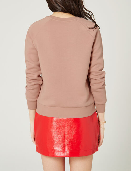 "Light pink ""howdy"" sweatshirt"