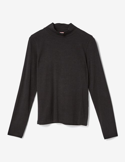 tee-shirt col roulé noir
