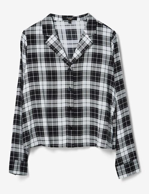 chemise à carreaux noir et blanc