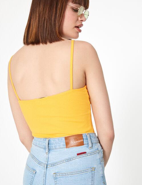 basic ribbed vest top