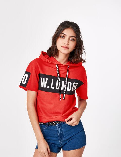 """Red """"London"""" hoodie"""