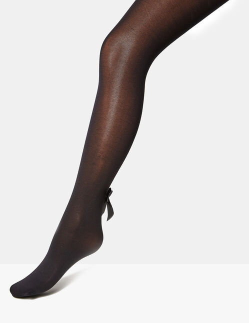 Black tights with bow detail