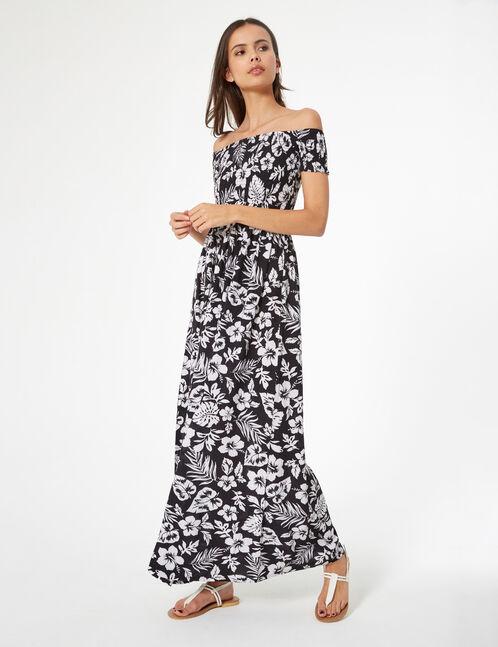 robe longue fleurie