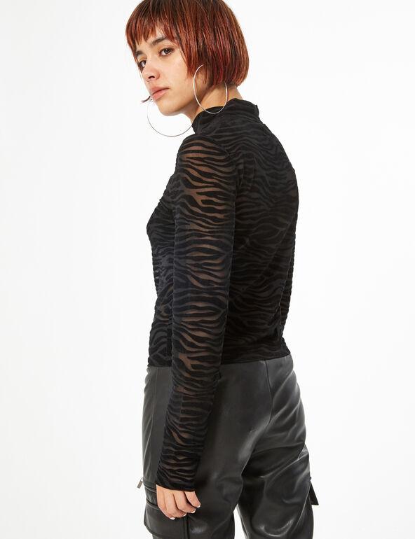 Tee-shirt transparent texturé