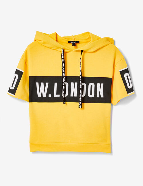"Yellow ""London"" hoodie"