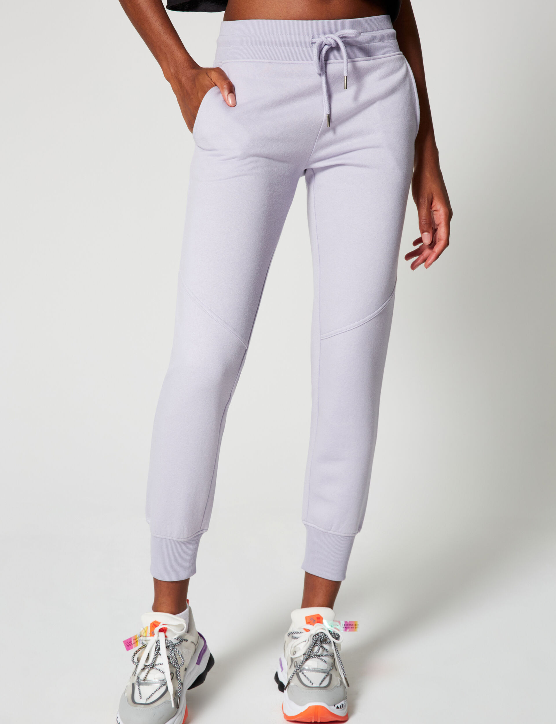 Joggers with stitching detail