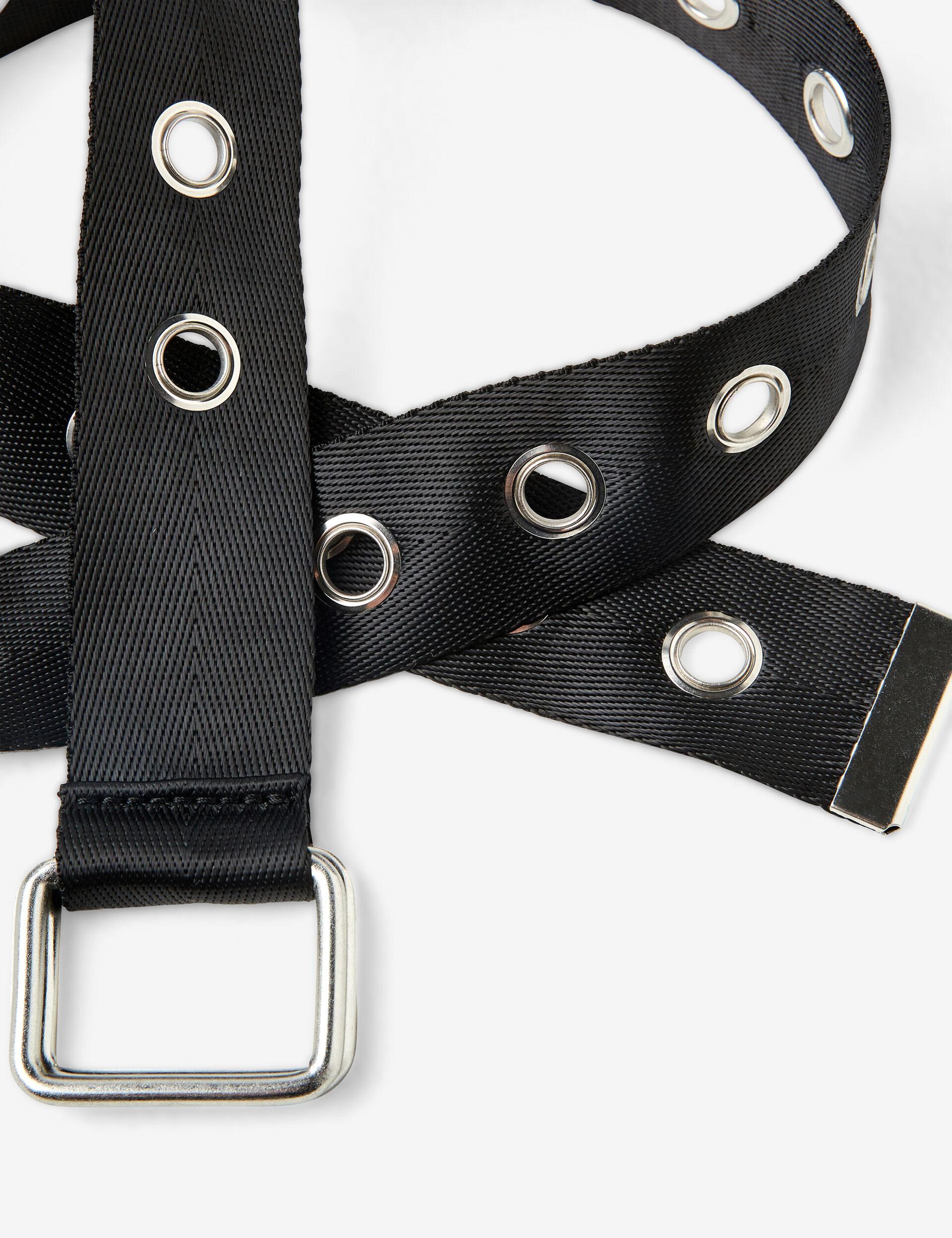 Belt with eyelets