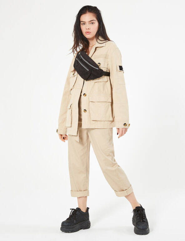 Beige cargo jacket