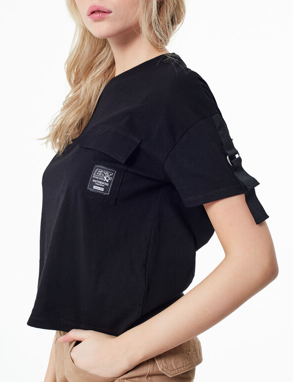 T-shirt with strap detail