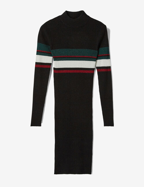 Black lurex tube dress
