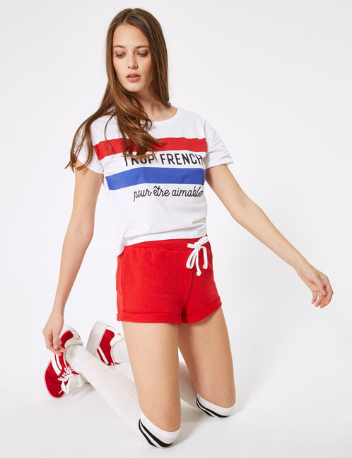 Basic red jersey shorts