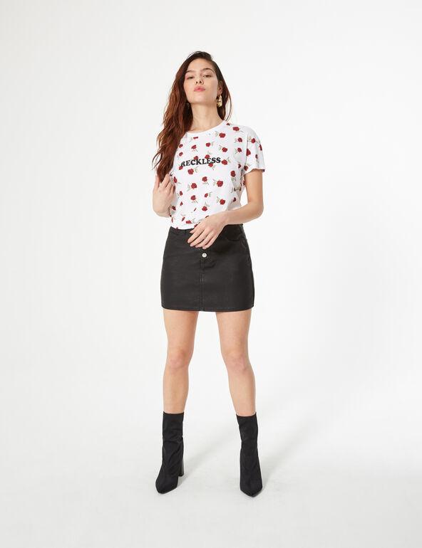 Tee-shirt roses et reckless