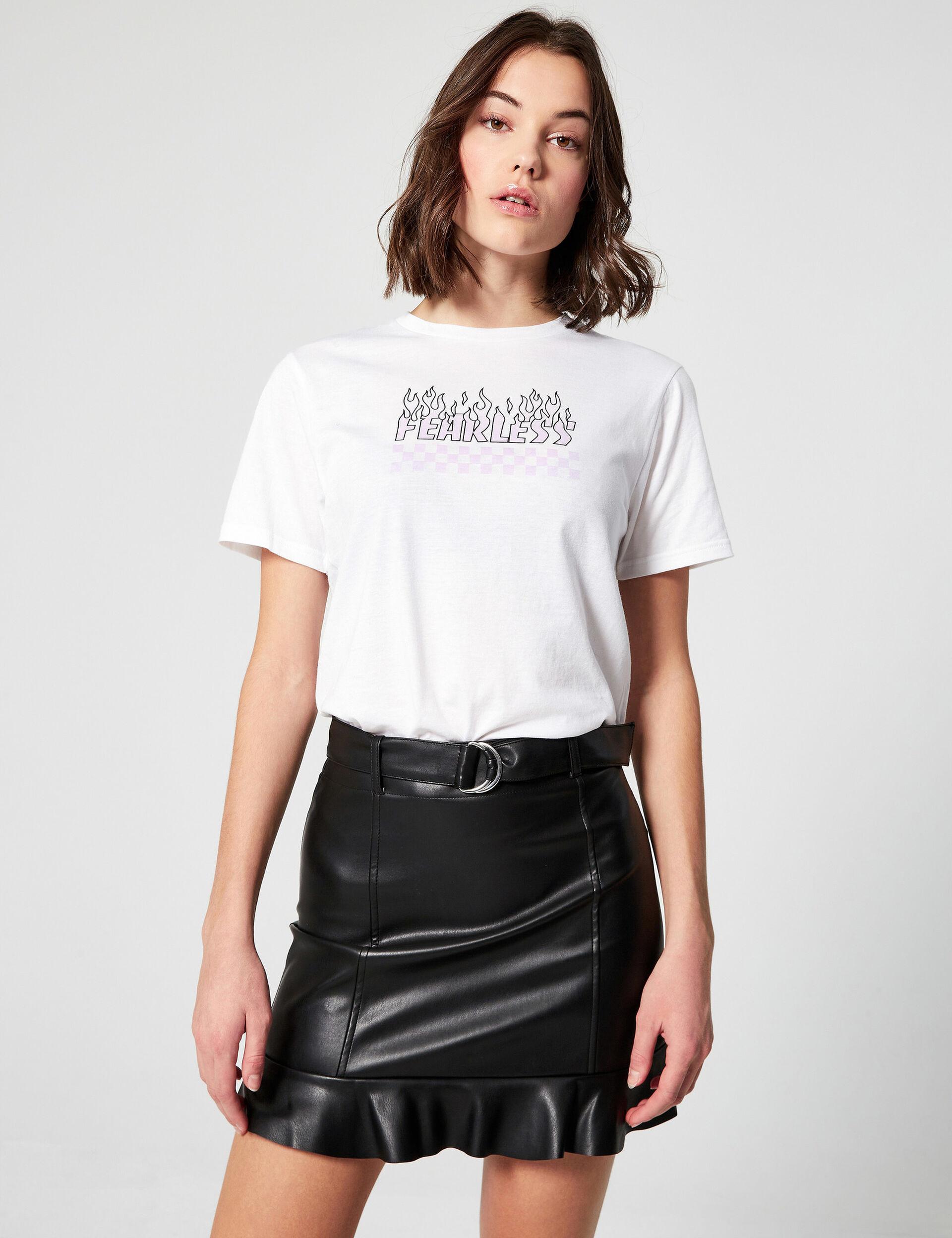 Tee-shirt loose fearless